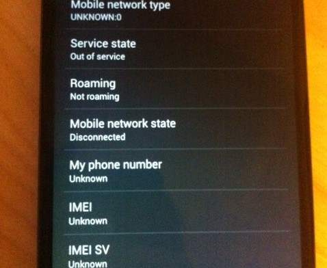 How to fix Unknown IMEI and Baseband Version on Android