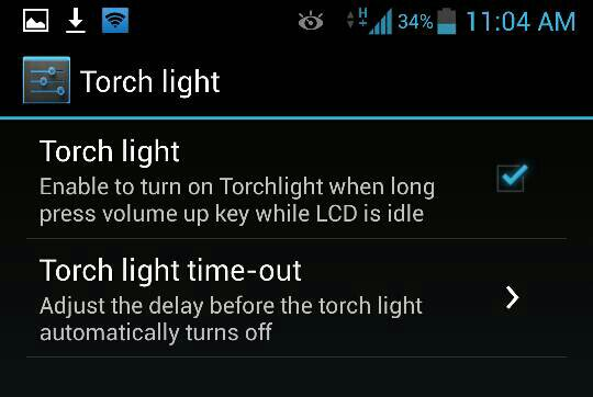 Turn On Flashlight Using Volume Buttons On Galaxy S4