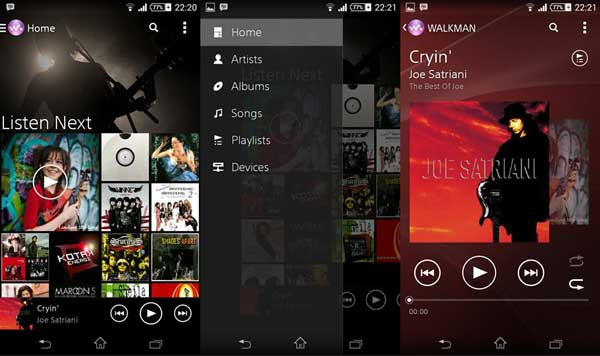 Dowload Xperia Z2 Walkman Music App for Android Devices