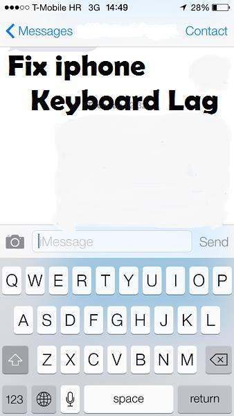 fix keyboard lag iPhone ios
