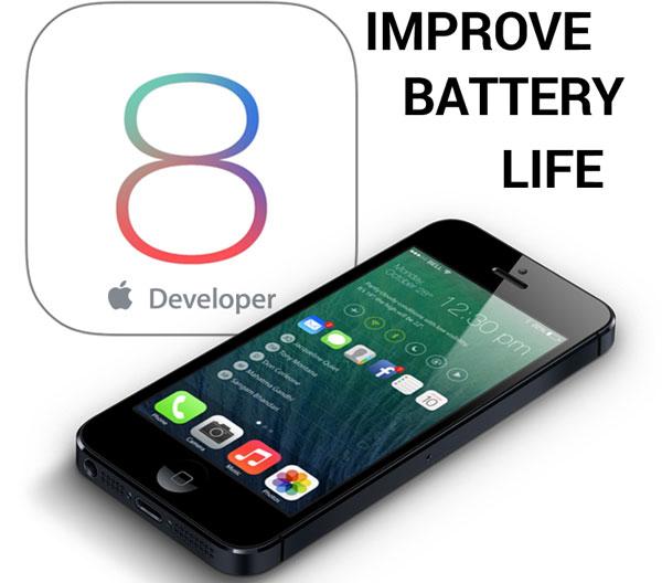 ios 8 battery life improve