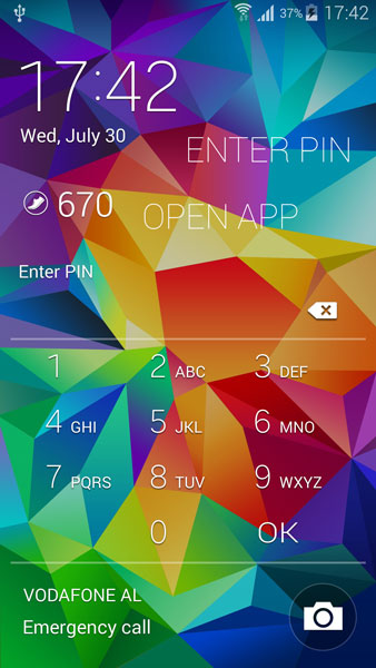 launch apps lock screen android