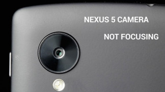 nexus 5 camera not focusing