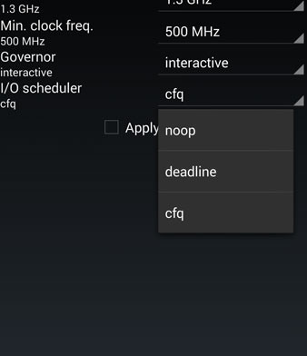 overclock processor galaxy s5 change frequency