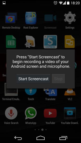 screencast screen recording nexus