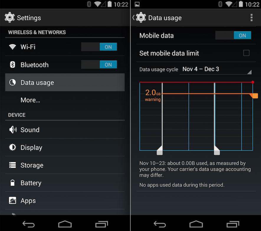 nexus 5 fix mobile data