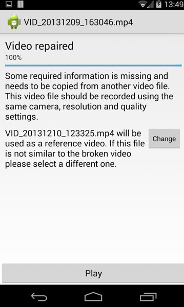 Repair Corrupted Videos Android