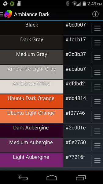 find color palettes codes save