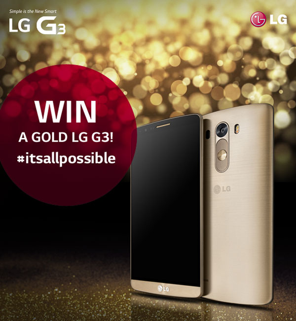 lg g3 gold giveaway