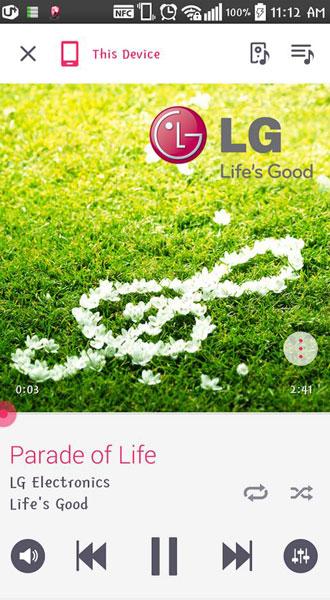lg sound flow system app