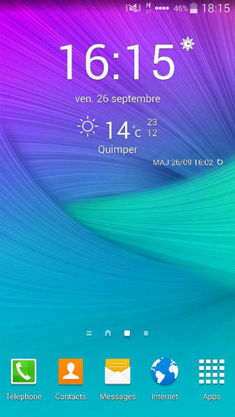samsung weather widget note 5