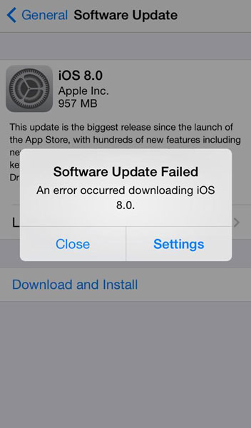 iphone software update failed ios 8 quot the iphone software update server could not be 3193