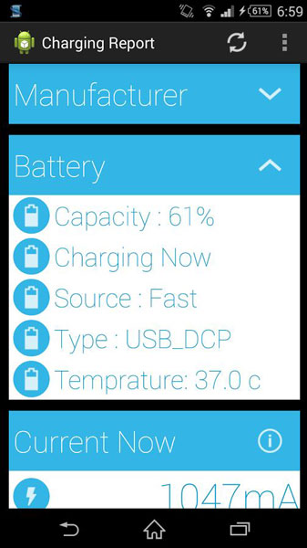 measure charging speed current lg g3