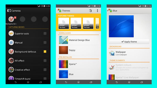 ported xperia z3 apps pack