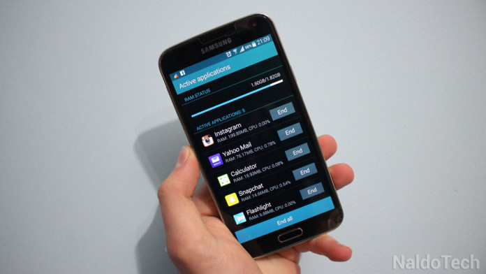 how to reduce ram usage galaxy s5