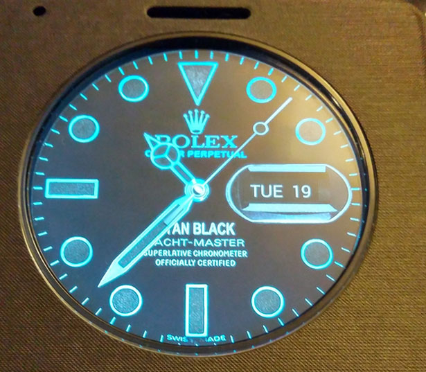 rolex watch face lg g3 quick circle
