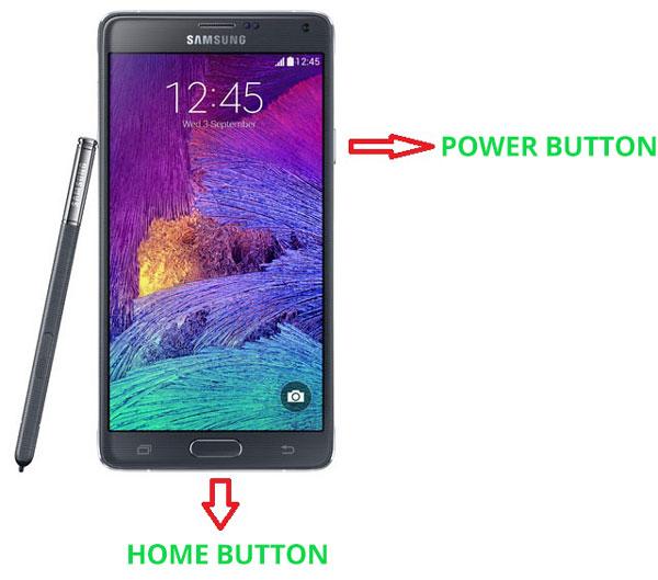 take screenshot galaxy note 4 methods