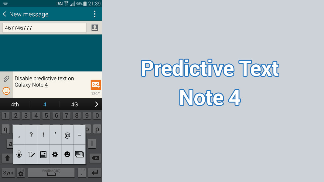 How To Turn Predictive Text On Off Galaxy Note 4 Naldotech