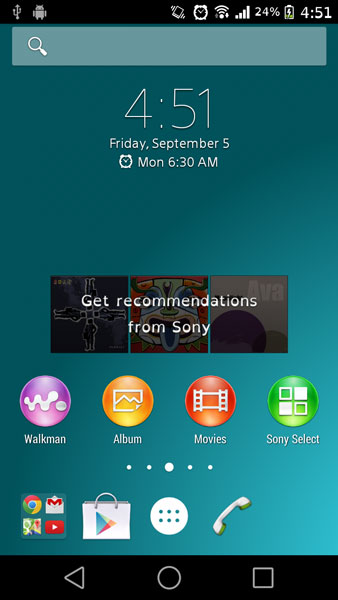 xperia z3 ported weather widget launcher