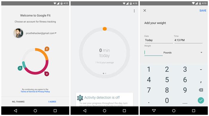 Google Fit leak Android 5.0 Lollipop apk