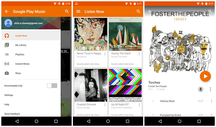 Google Play Music Lollipop APK