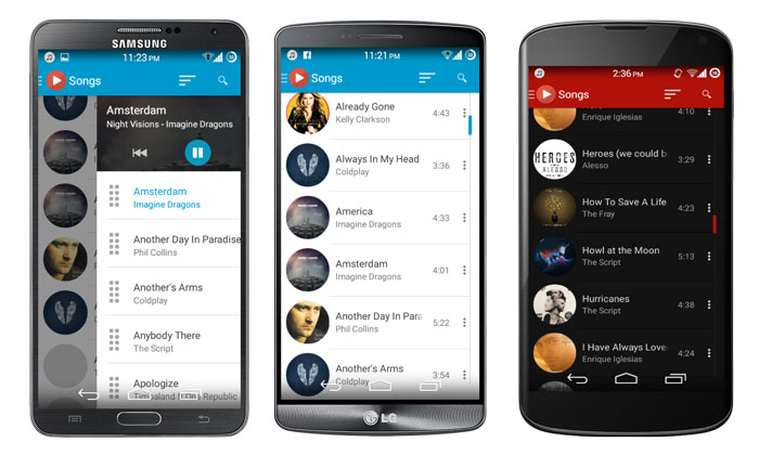 ace music player material design