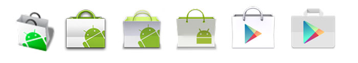 android play store icon history evolution