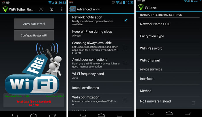 enable wifi tethering lg g3