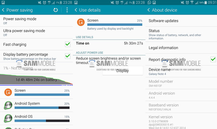 fix galaxy note 4 bad battery life