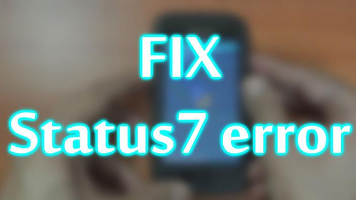 fix status 7 installation aborted-galaxy s4 s5