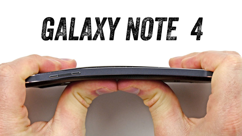 galaxy note 4 bend test video