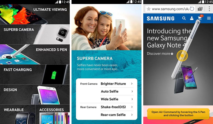 galaxy note 4 experience app features