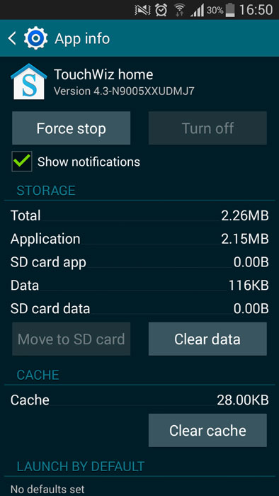 galaxy s3 touchwiz launcher wipe data