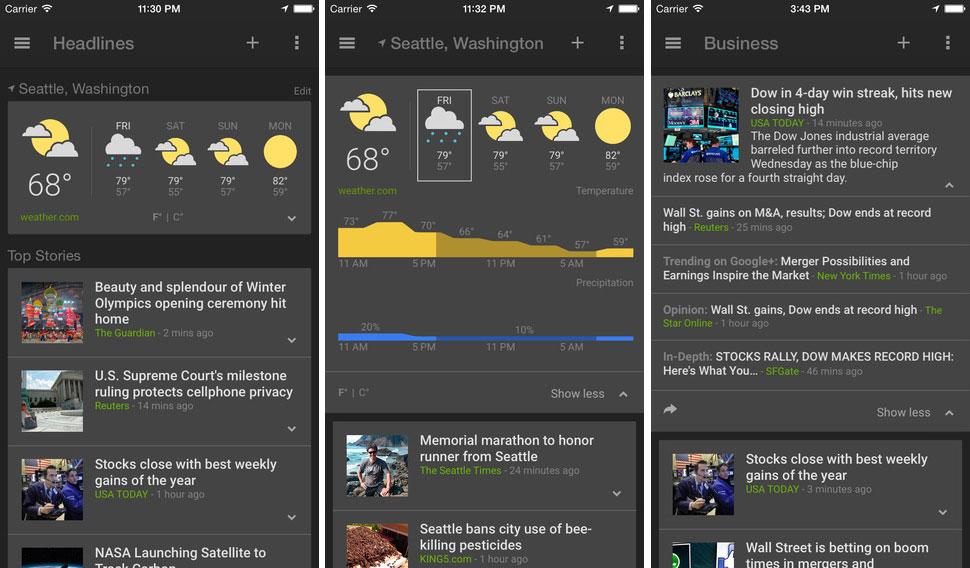 google news weather app iphone ipad ios