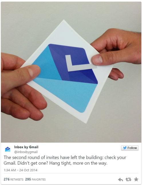 Входящие приглашения Gmail получают одно