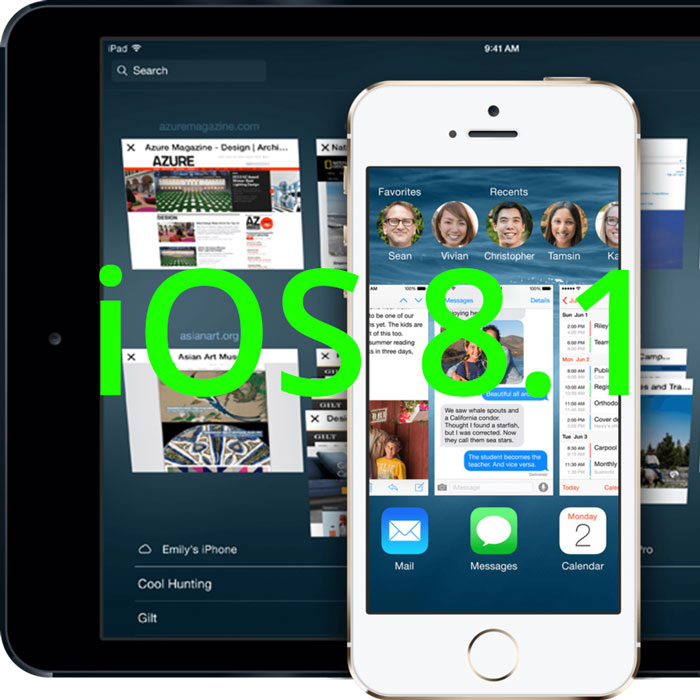 ios 8.1 update features changes date