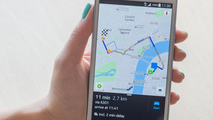 Download the new nokia maps suite.