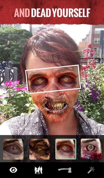 walking dead halloween app 2014
