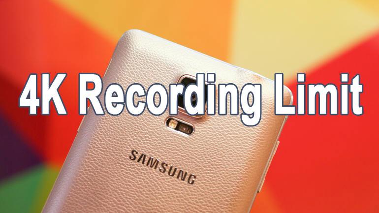 remove 5 minute 4k recording limit galaxy note 4