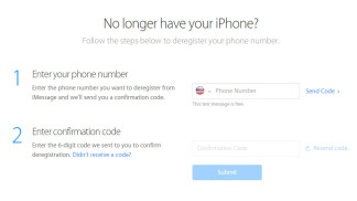 deregister unlink iOS number iMessage