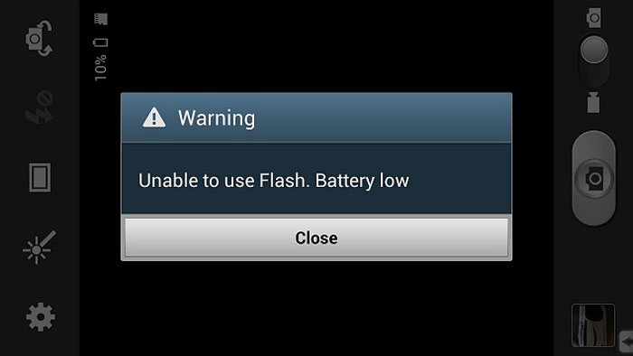 How To Disable Camera Low Battery Warning On Note 4