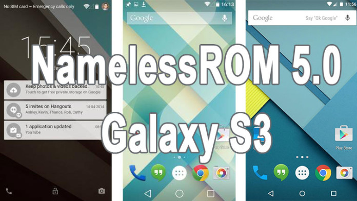 namelessrom android 5.0 lollipop galaxy s3