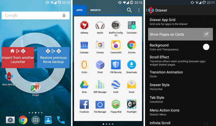 nova launcher apk white app drawer lollipop