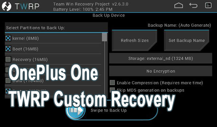 twrp custom recovery oneplus one
