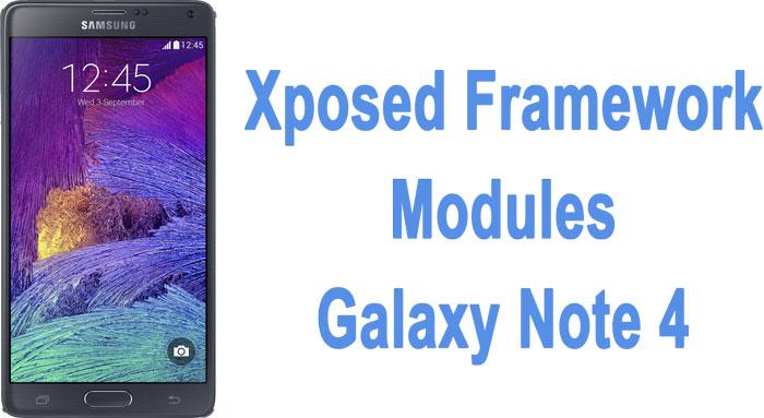 xposed framework modules galaxy note 4