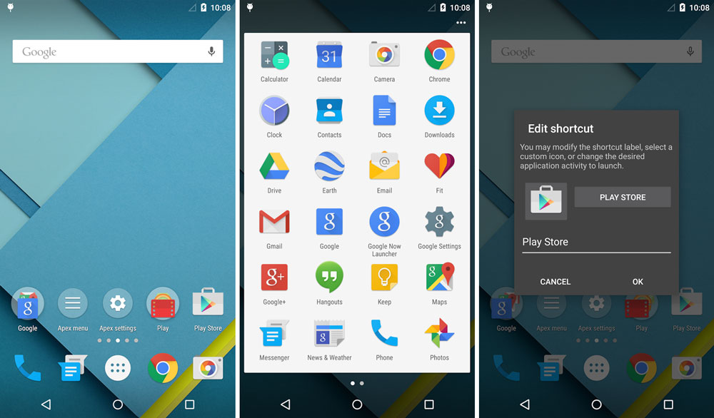 Apex Launcher 3.0 APK With Android 5.0 Lollipop Material