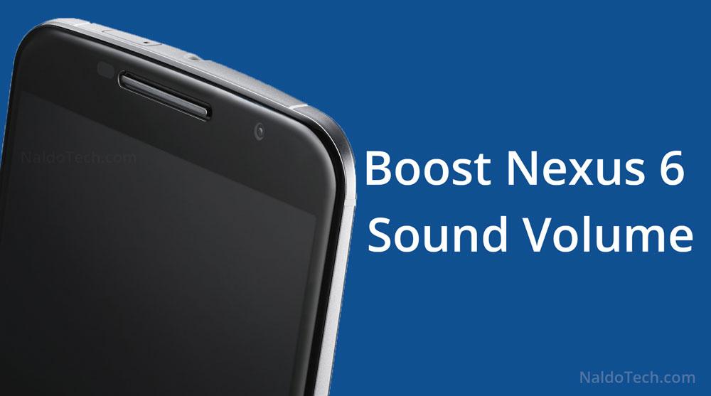 усилить звук динамики nexus 6