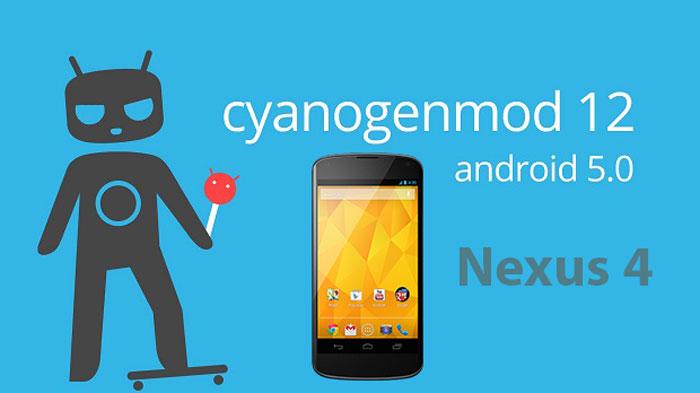 cyanogenmod rom nexus 4