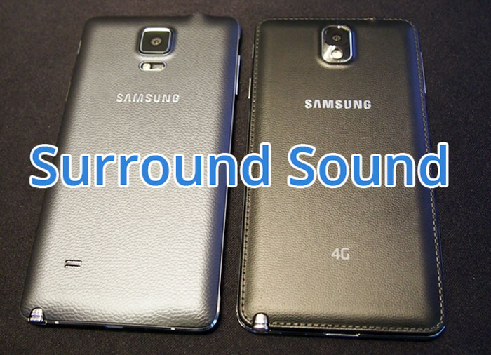 surround sound mode note 4 speaker