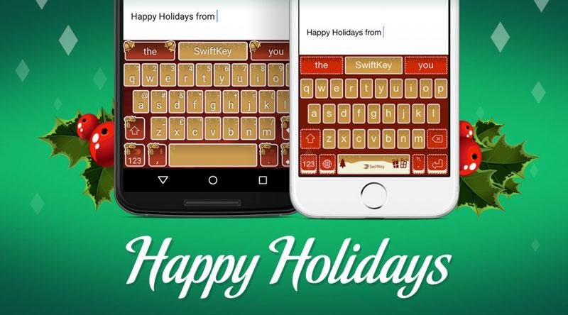 swiftkey holiday gifts theme